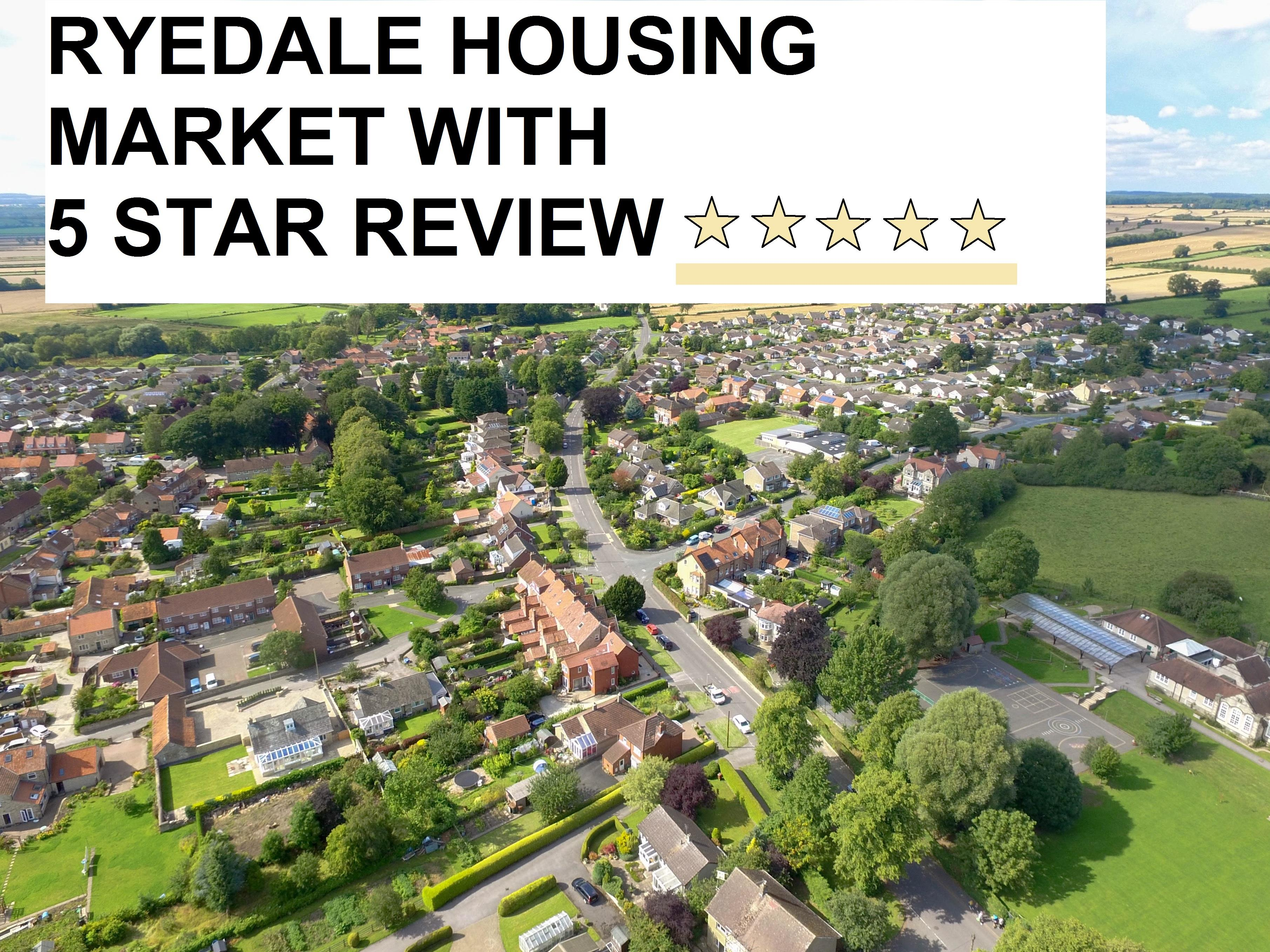 Ryedale housing market with 5 star performance and review – by Peter Illingworth Property Agent