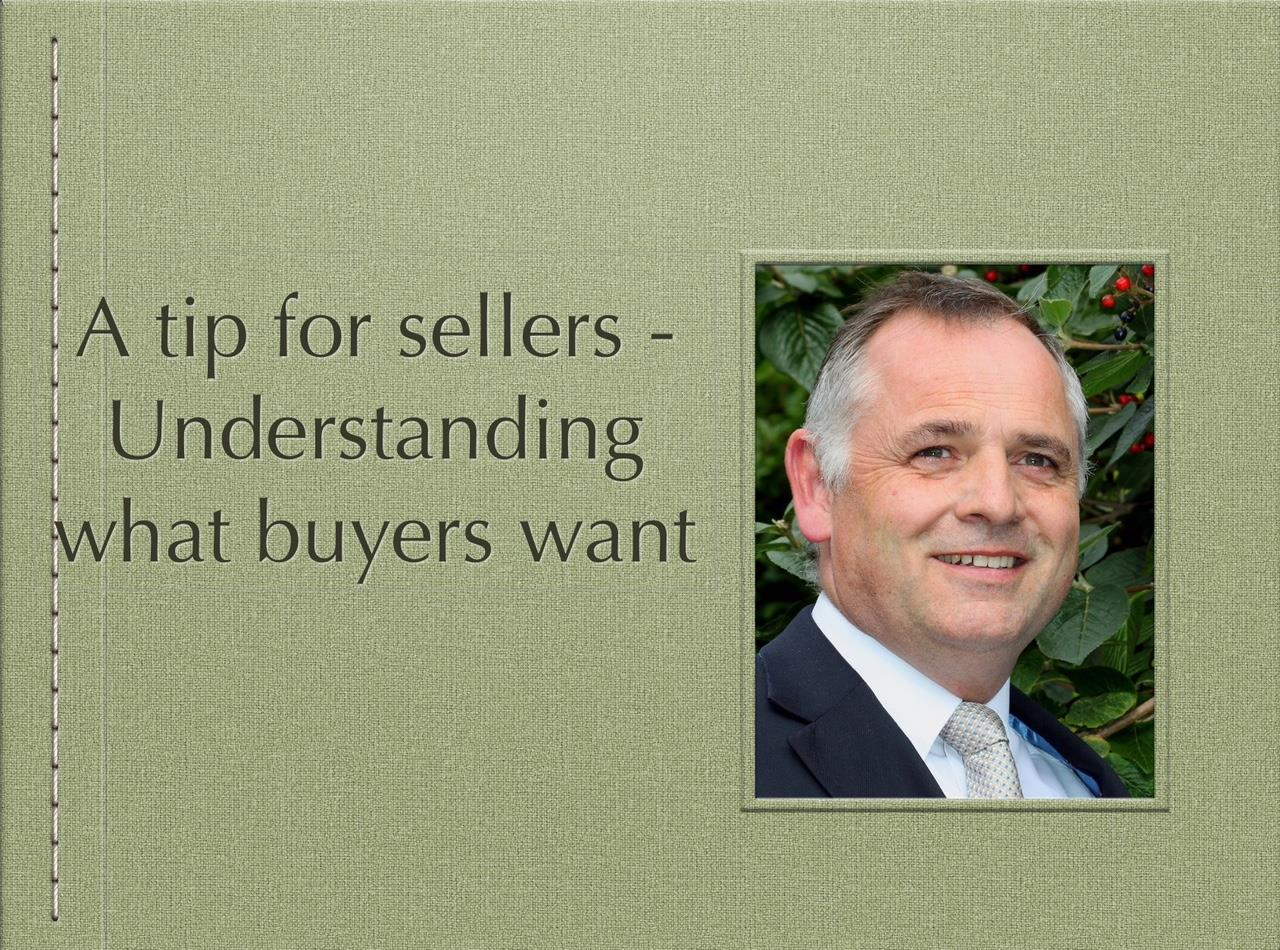 A tip for sellers – Understanding what buyers want.