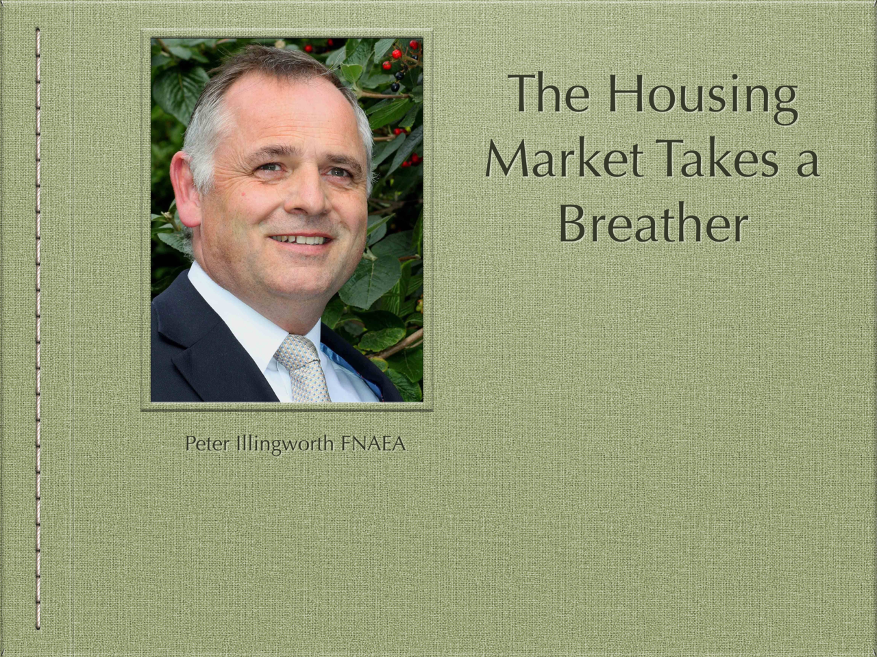 The Housing Market Takes a Breather